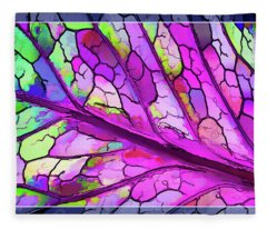 Colorful Coleus Abstract 3 Fleece Blanket