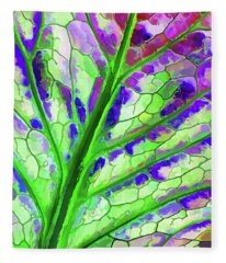 Colorful Coleus Abstract 4 Fleece Blanket