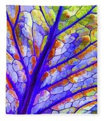 Colorful Coleus Abstract 6 Fleece Blanket
