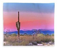 Colorful Desert Fleece Blanket