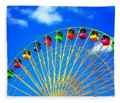 Colorful Ferris Wheel Fleece Blanket