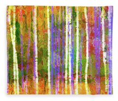 Colorful Forest Abstract Fleece Blanket
