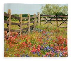 Colorful Gate Fleece Blanket