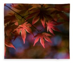 Colorful Japanese Maple Fleece Blanket