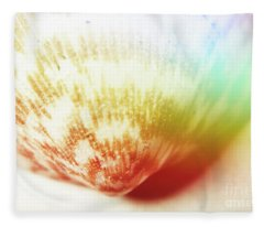 Colorful Light Flare Over Seashell Fleece Blanket