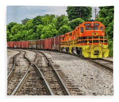 Colorful Marquette Rail Fleece Blanket