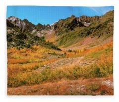 Colorful Mcgee Creek Valley Fleece Blanket