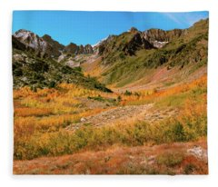 Colorful Mcgee Creek Valley Fleece Blanket