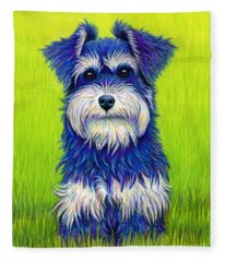 Colorful Miniature Schnauzer Dog Fleece Blanket