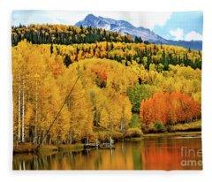 Colorful Peaceful Colorado Fleece Blanket