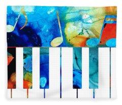 Colorful Piano Art By Sharon Cummings Fleece Blanket