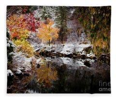 Colorful Pond Fleece Blanket