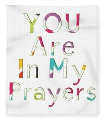 Colorful Prayers- Art By Linda Woods Fleece Blanket