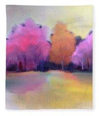 Colorful Reflection Fleece Blanket