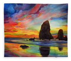 Colorful Solitude Fleece Blanket