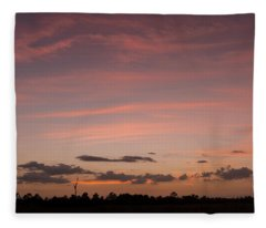 Colorful Sunset Over The Wetlands Fleece Blanket