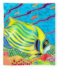 Colorful Tropics 10 Fleece Blanket