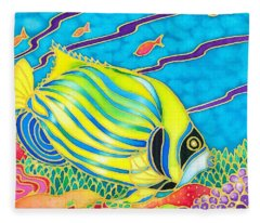 Colorful Tropics 10 Fleece Blanket