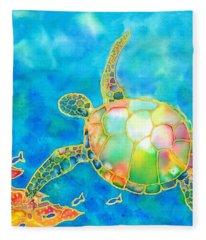 Colorful Tropics 11 Fleece Blanket