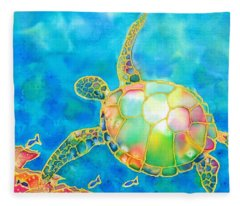 Colorful Tropics 11 Fleece Blanket