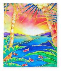 Colorful Tropics 12 Fleece Blanket