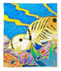 Colorful Tropics 5 Fleece Blanket