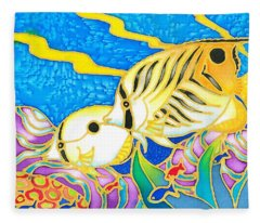 Colorful Tropics 5 Fleece Blanket