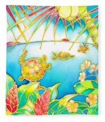 Colorful Tropics 7 Fleece Blanket