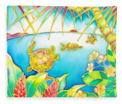 Colorful Tropics 7 Fleece Blanket
