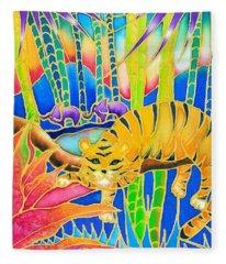 Colorful Tropics 9 Fleece Blanket