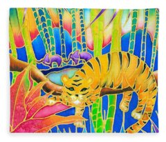 Colorful Tropics 9 Fleece Blanket