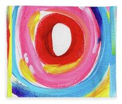 Colorful Uprising 6- Art By Linda Woods Fleece Blanket