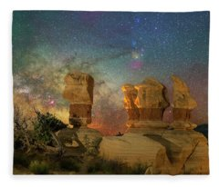 Colors Of Darkness Fleece Blanket
