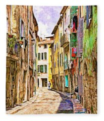 Colors Of Provence, France Fleece Blanket