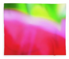 Colors Of Spring Abstract Triptych Section 2 Fleece Blanket