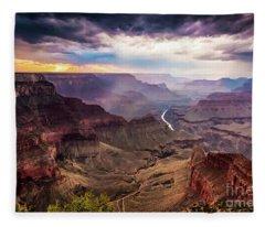 Colors Of The Canyon Fleece Blanket