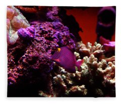Colors Of Underwater Life Fleece Blanket
