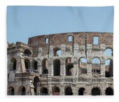 Colosseum In Rome Day  Fleece Blanket