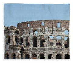 Colosseum In Rome Day  Fleece Blanket