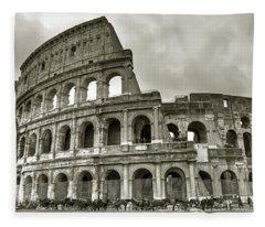 Colosseum  Rome Fleece Blanket