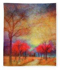 Colour Burst Fleece Blanket