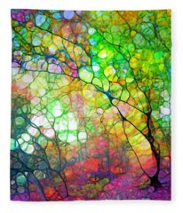 Colour Combustion Fleece Blanket