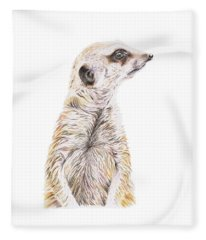 Colour Meerkat Fleece Blanket