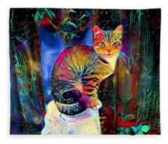 Colourful Calico Fleece Blanket