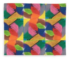 Colourful Chains -the Double Helix Fleece Blanket