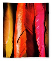 Colourful Feather Art Fleece Blanket