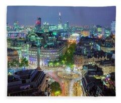 Colourful London Fleece Blanket