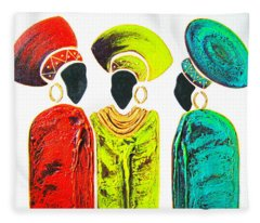 Colourful Trio - Original Artwork Fleece Blanket