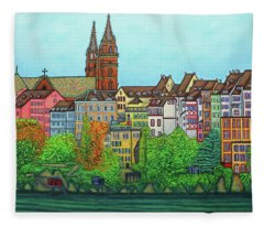 Basel, Colours Of Basel Fleece Blanket