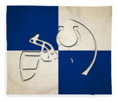 Colts Helmet Art Fleece Blanket